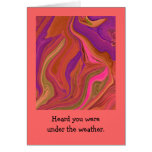pastel abstract art greeting card