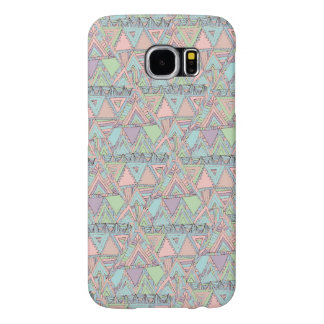 Pastel Abstract Aztec Triangles Sketch Pattern Samsung Galaxy S6 Case