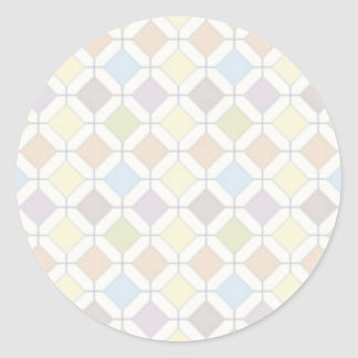 Pastel Abstract Classic Round Sticker