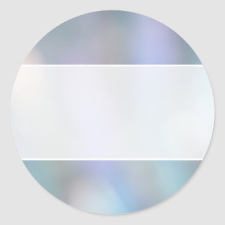 Pastel Abstract. Classic Round Sticker
