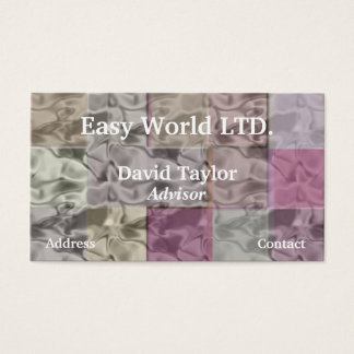Pastel Abstract Cubes With Smoky Water effect Business Card