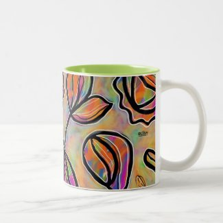 Pastel Abstract Floral Mug