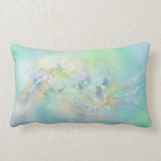 Pastel Abstract Floral Pattern Lumbar Pillow