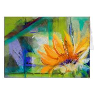 Pastel Abstract From the Soil Sunflower Card