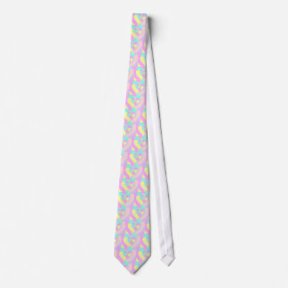 Pastel Abstract Heart Pattern Tie