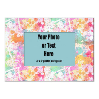 Pastel Abstract Paint Splatters Card
