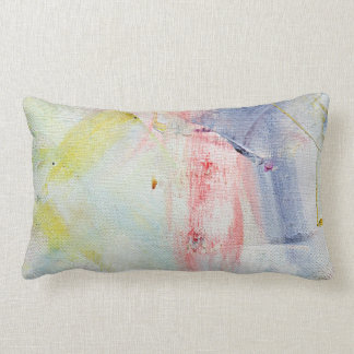Pastel Abstract Pink Oil Paint Strokes Throw Pillows