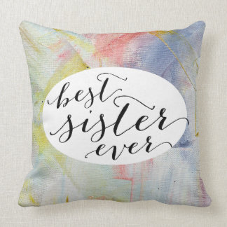 Pastel Abstract Pink Oil Paint Strokes Pillows