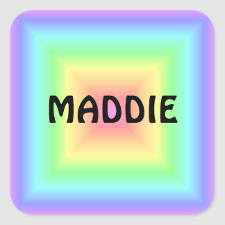Pastel Abstract Square Square Sticker