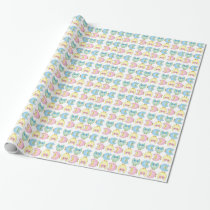 Pastel Adorable Cute Owls Wrapping Paper