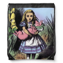 Pastel Alice & the Pig Baby Backpack