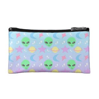 Pastel Alien Pattern Cosmetic Bag