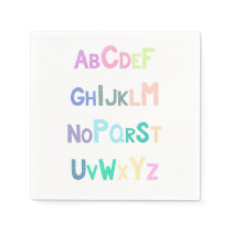 Pastel Alphabet Napkin