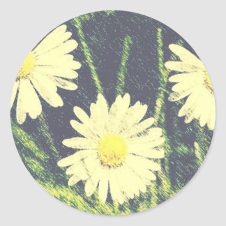 Pastel amarillo verde de la floración de las etiqueta redonda