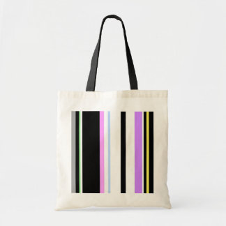 Pastel And Black Lines Bag