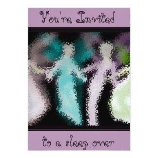"Pastel Angel Dance slumber party invitation 5"" X 7"" Invitation Card"