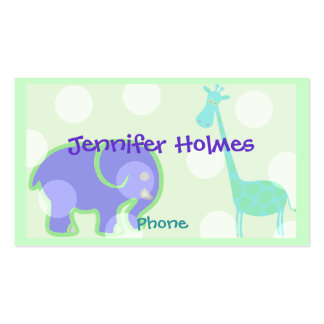 Pastel Animal Children's Calling Card Double-Sided Standard Business Cards (Pack Of 100)