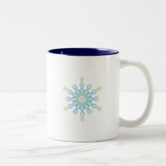 Pastel Aqua and Pink Winter Snowflake Mug