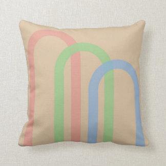 Pastel Arches Throw Pillow