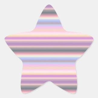 Pastel arco iris tira Fantasy especie - Art Deco Pegatina En Forma De Estrella