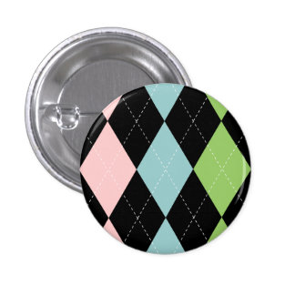 Pastel Argyle Button