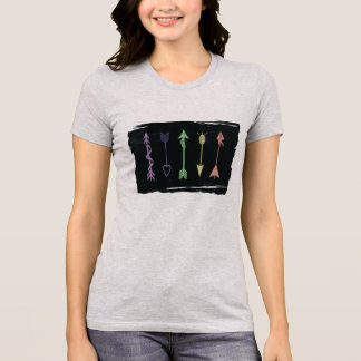 Pastel Arrows and Charcoal T-Shirt