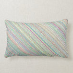 Pastel Art Lumbar Pillow with Zipper Case