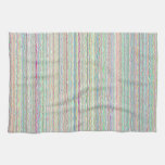 Pastel Art Stripes Custom Kitchen Towel
