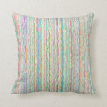 Pastel Art Throw Pillow with Zipper Case