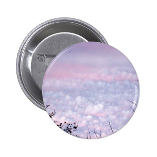 Pastel Autumn Evening Clouds Pinback Button