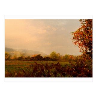 Pastel Autumn Morning Postcard