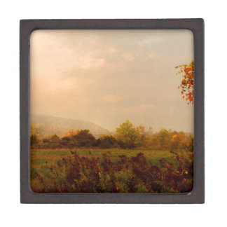 Pastel Autumn Morning Premium Jewelry Box
