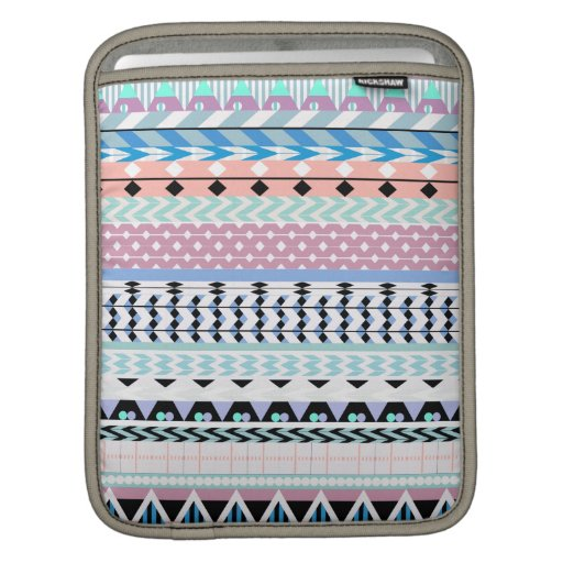 Pastel Aztec Pattern Sleeve For iPads