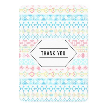 Pastel Aztec Thank You Card