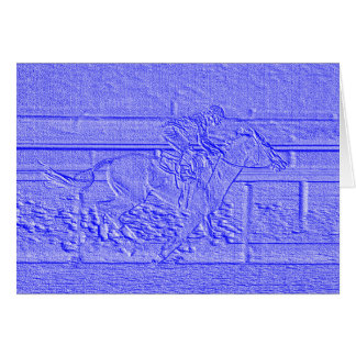 Pastel Baby Blue Thoroughbred Racehorse Card