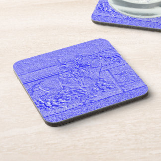 Pastel Baby Blue Thoroughbred Racehorse Coaster