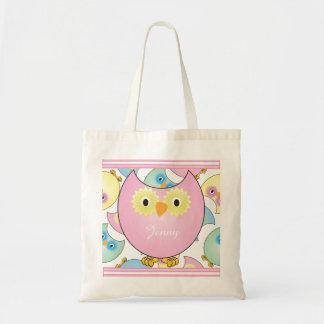 Pastel Baby Owl Nursery Theme in Pink Tote Bag
