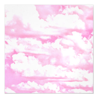 Pastel Baby Pink Happy Clouds Decor Magnetic Card