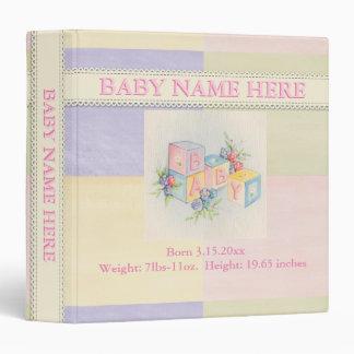 Pastel Baby Scrapbook Vintage Album•Custom Vinyl Binders
