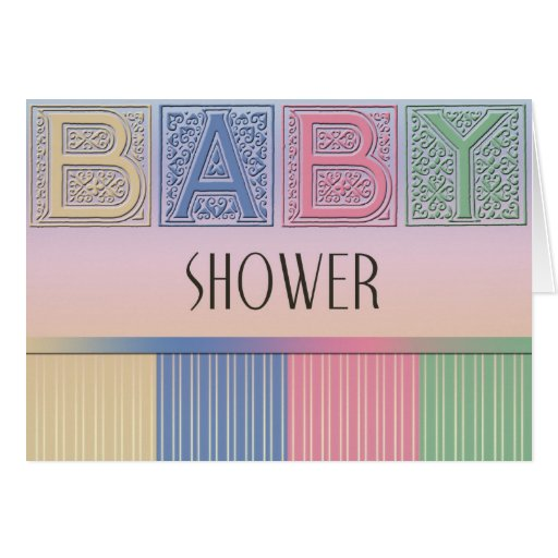pastel baby shower greeting card zazzle