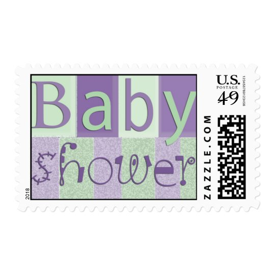 Pastel baby shower stamps