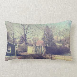 Pastel Backyard Lumbar Pillow