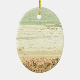 Pastel Beach Photography Ceramic Ornament
