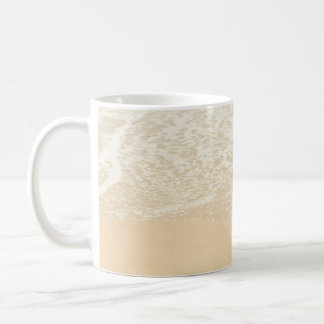 Pastel Beach Photography Sand and Sea foam Coffee Mug