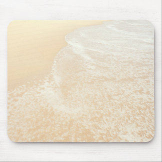 Pastel Beach Photography Sand and Sea foam Mousepads