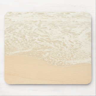 Pastel Beach Photography Sand and Sea foam Mousepad