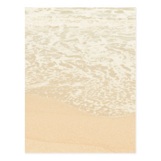 Pastel Beach Photography Sand and Sea foam Postcard