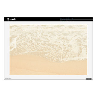 Pastel Beach Photography Sand and Sea foam Skins For Laptops