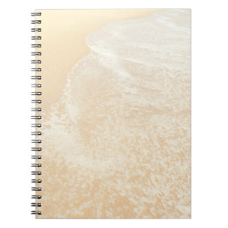 Pastel Beach Photography Sand and Sea foam Spiral Note Book