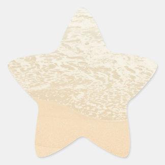 Pastel Beach Photography Sand and Sea foam Star Sticker